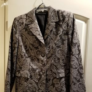 Le Suit 2-piece paisley gray/black suit
